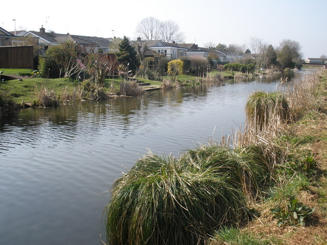 Suburban gardens, adjoining the canal, at Tiverton