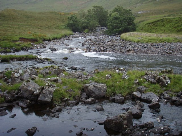 Allt a' Ghlomaich joins the River Elchaig