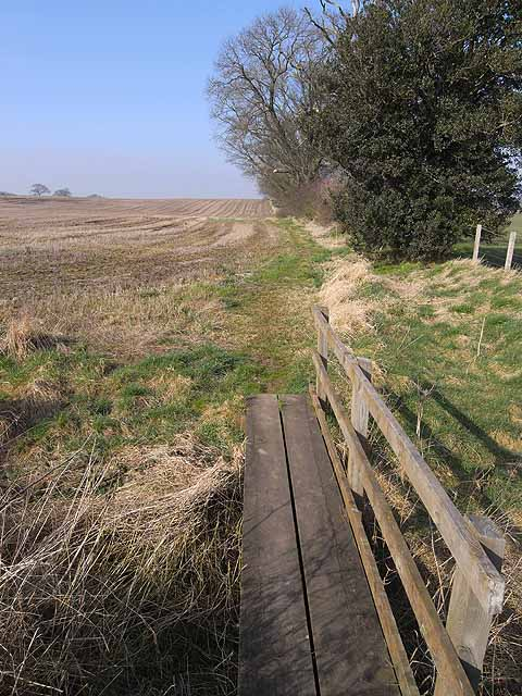Footbridge on St Oswald's Way