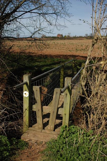 Footbridge over Kempley Brook