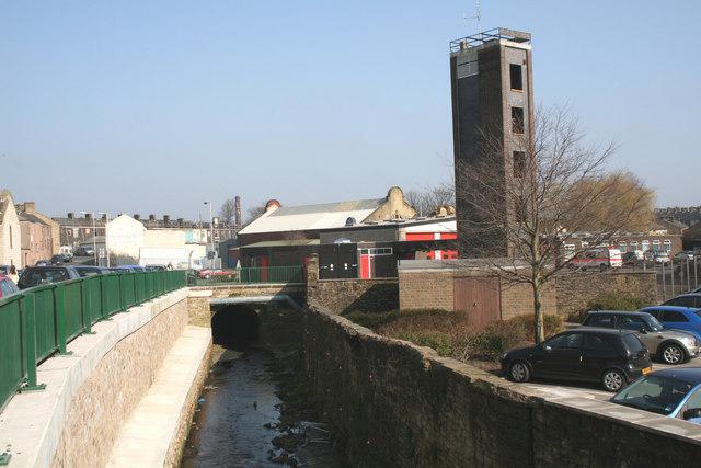 Urban landscape in Nelson, Lancashire