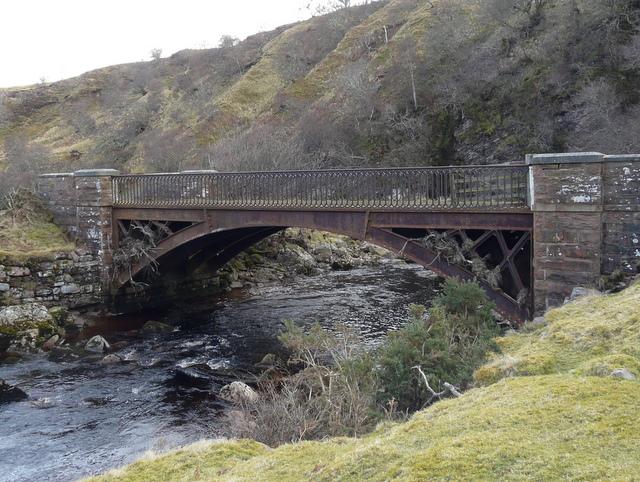 Cast-iron bridge across Langwell Water