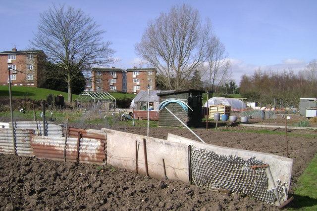 Recycling, Potterton's allotments, Warwick