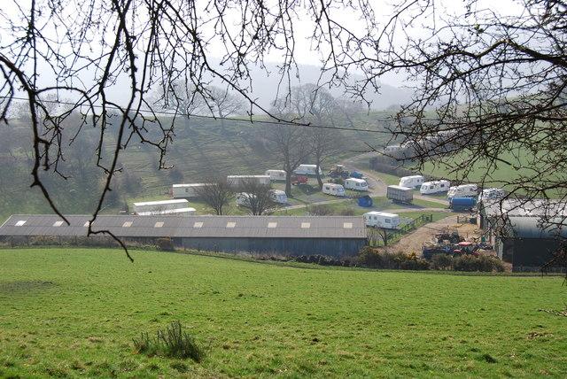 Small caravan site at Wern Isaf