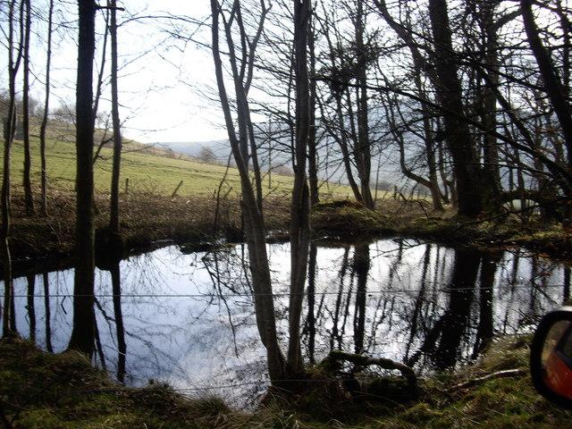 Drainage pond near Startinnan