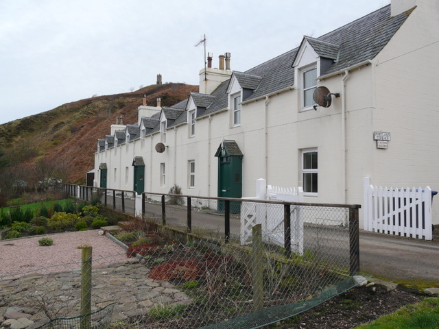 Cottages at Berriedale harbour