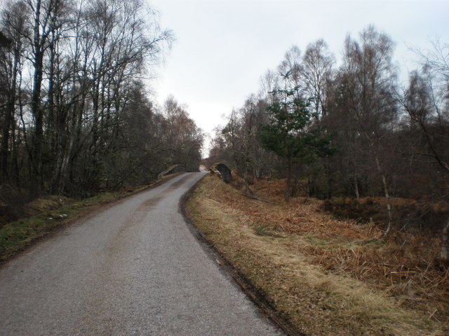 Road approaching General Wade bridge on the old Military road