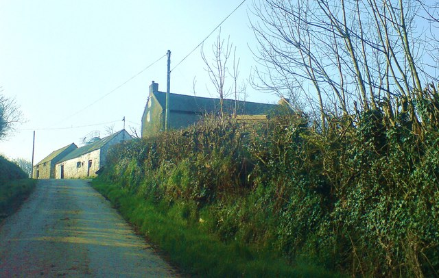 Lane through Cotts Park Farm