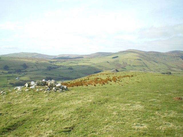 West-southwest from the summit of Garneddwen