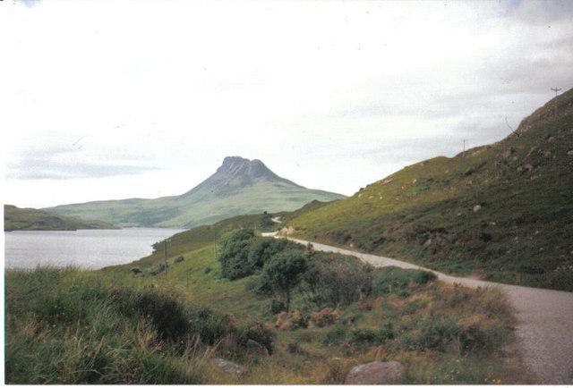 Loch Lurgainn with Stac Pollaidh in distance