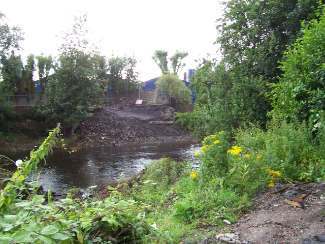 Wardsend Bridge destroyed by the 2007 flood