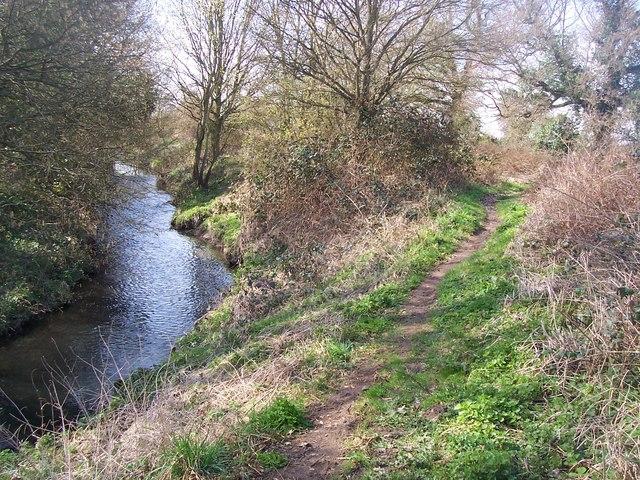 Greensand Way beside River Bourne