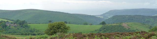 Exmoor : Scenery from Dunkery Hill