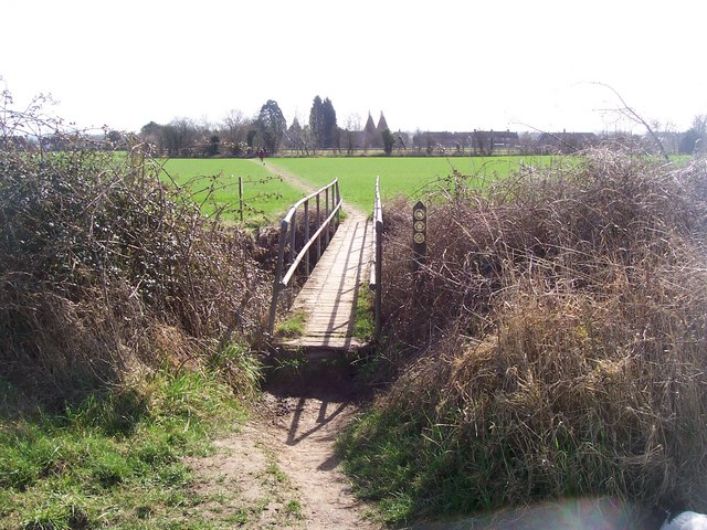 Footbridge on The Greesand Way