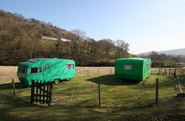Uncamouflaged caravans