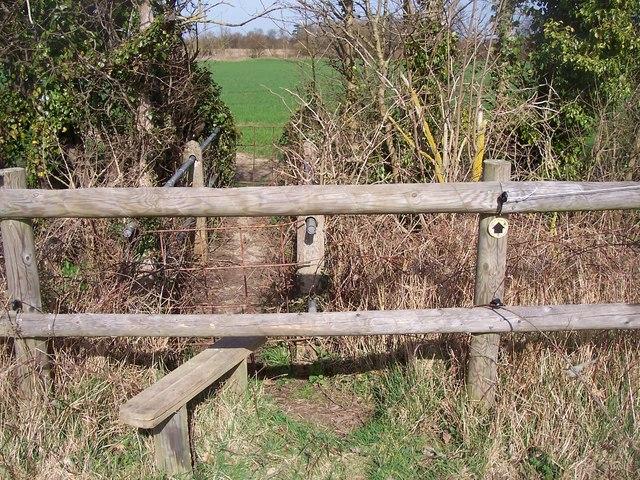 Footbridge and stile on Greensand Way