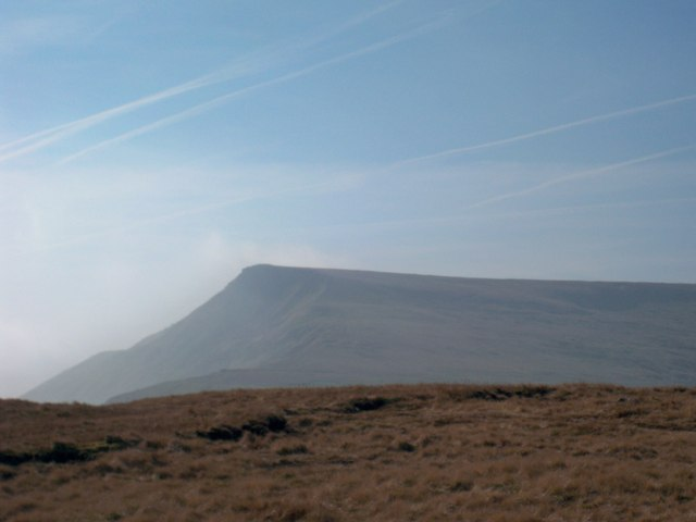 Wild Boar Fell from High Dolphinsty in the morning mist