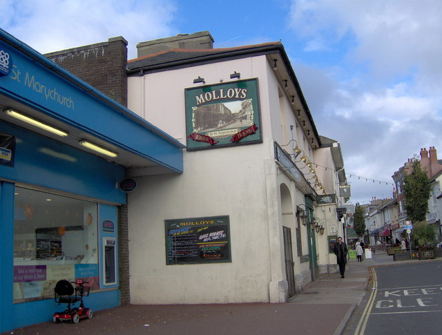 Public house at end of St Marychurch precinct