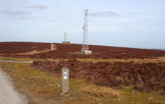 Transmitter towers on Cyrn-y-Brain