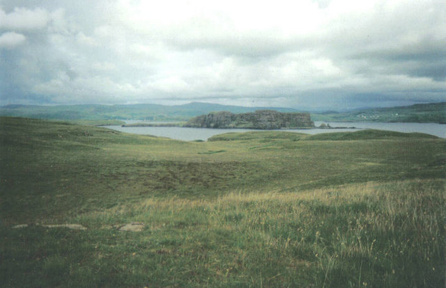 Moorland on Wiay with Oronsay in background