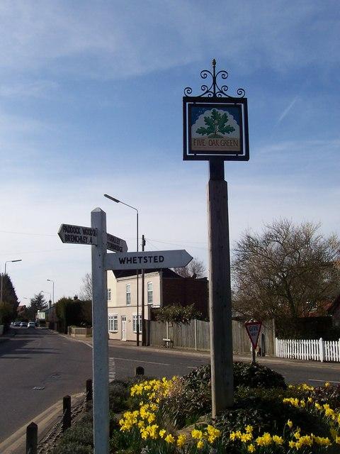 Five Oak Green Village Sign