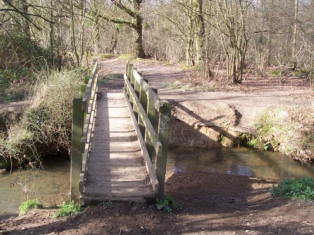 Footbridge in Whetsted Wood