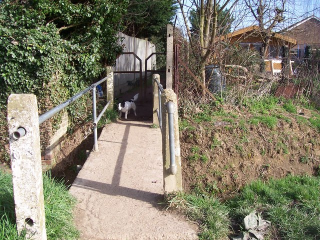 Footbridge over ditch