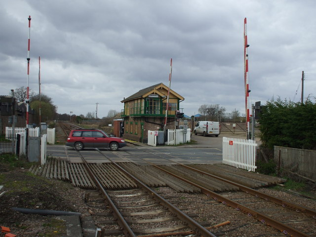 A1065 - level crossing, Brandon