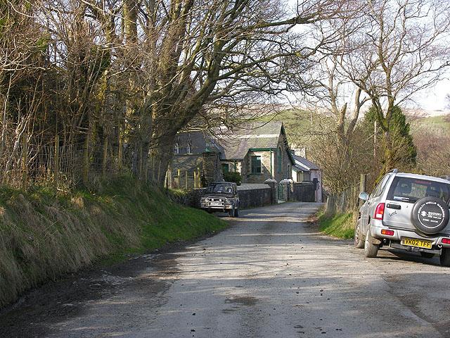 Minor road in Ystumtuen