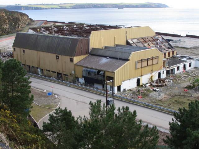 Partly demolished Cornwall Coliseum, Carlyon Bay