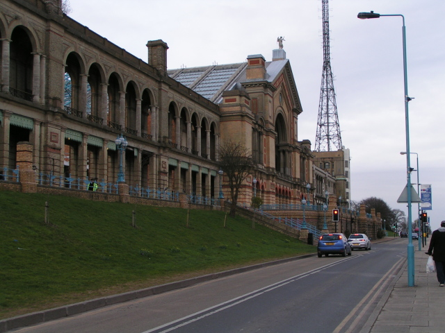 The front of Alexandra Palace