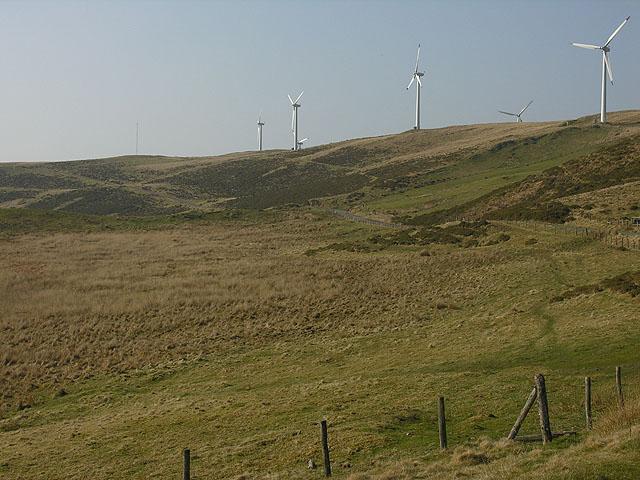 Marshland south of the Rheidol Wind Farm