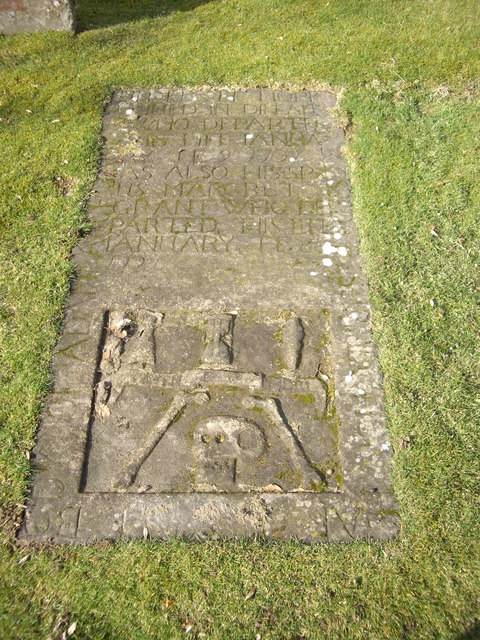 An early grave slab in Glass kirkyard