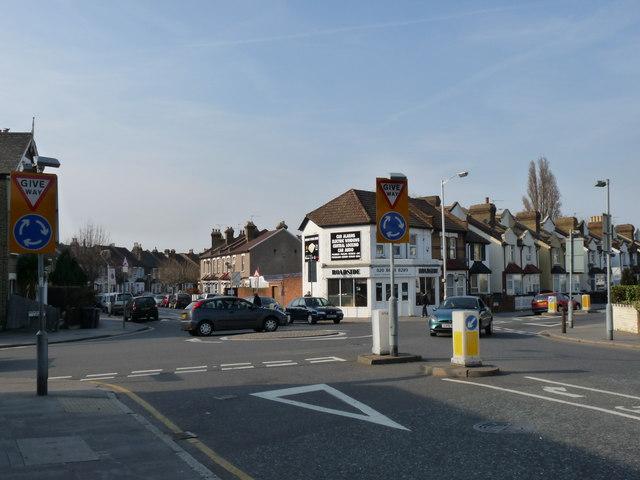 Road Junction in Thornton Heath