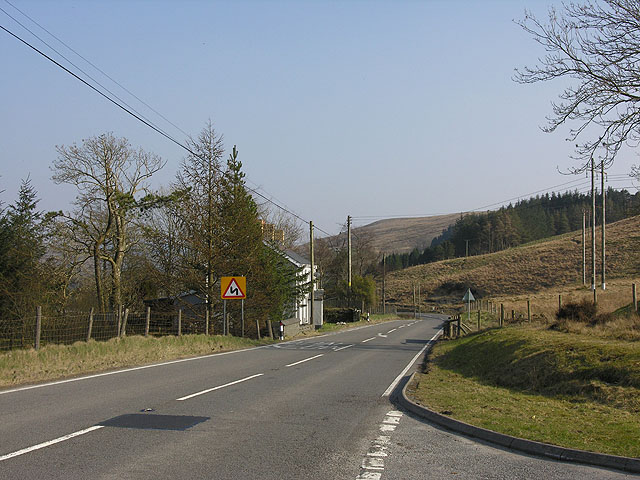 The A44 at Llywernog
