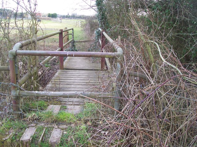 Footbridge over Alder Stream