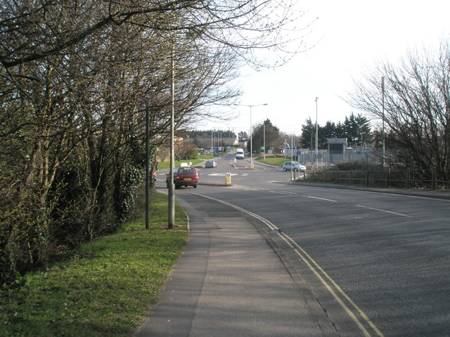 Looking from Brockhampton Road down to the roundabout