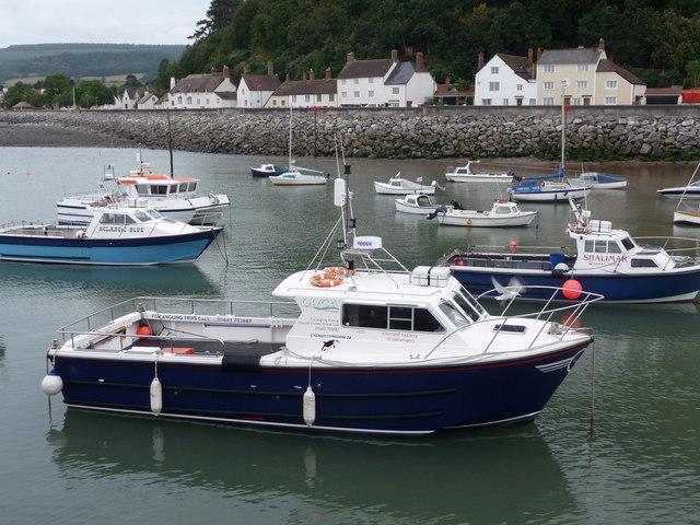 Minehead :  Boats in Minehead Harbour