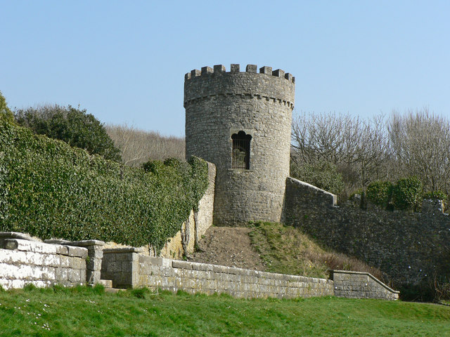 Tower in Dunraven Castle Walled Garden.