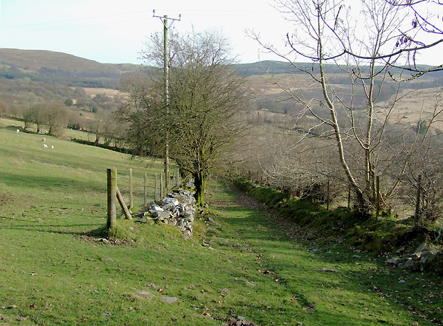 Old lane east of Pentrefelin, Ceredigion