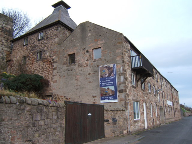 The old maltings on the harbour, Berwick-upon-Tweed