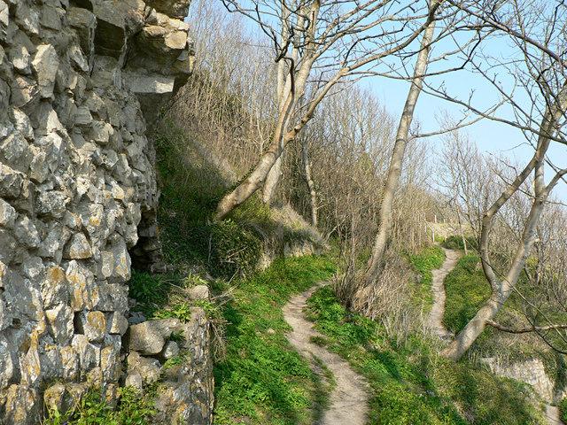 Clifftop footpath to Trwyn y Witch, Dunraven.