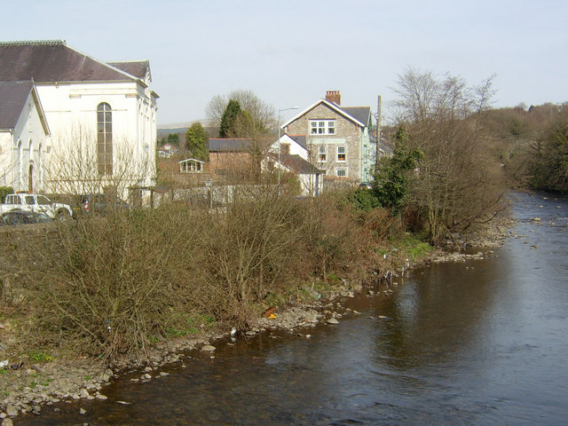 The Tawe at Ystradgynlais