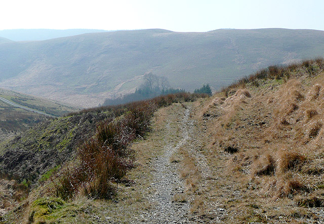 Bridleway to Bryn Ambor, south-east of Nant Gwernog, Ceredigion