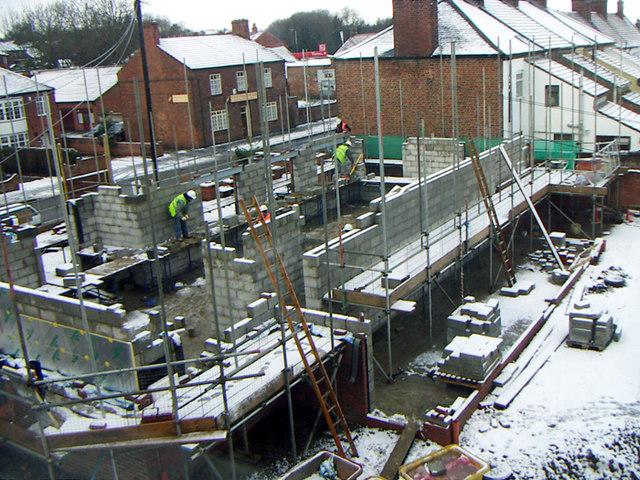 Barton Police Station - Construction Site 2005