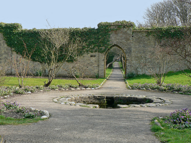 Well in the walled garden at Dunraven.