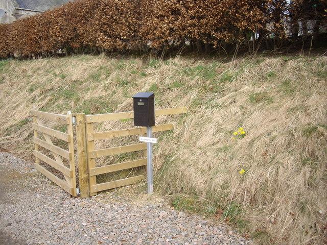 Invermarkie Mill mailbox