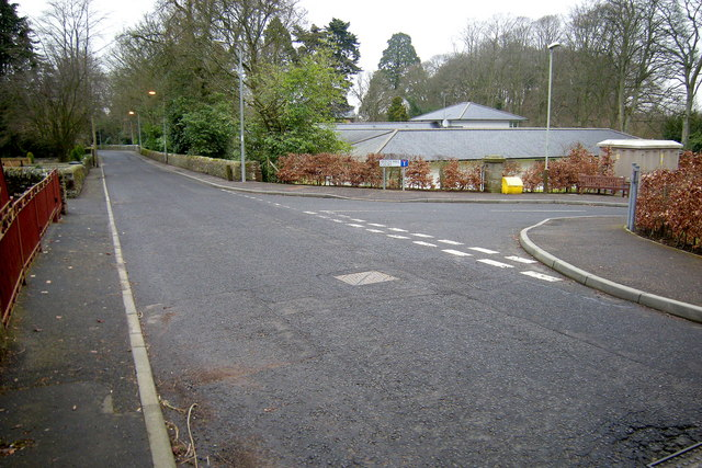 Lour Road, Forfar at its junction with Beech Hill Court