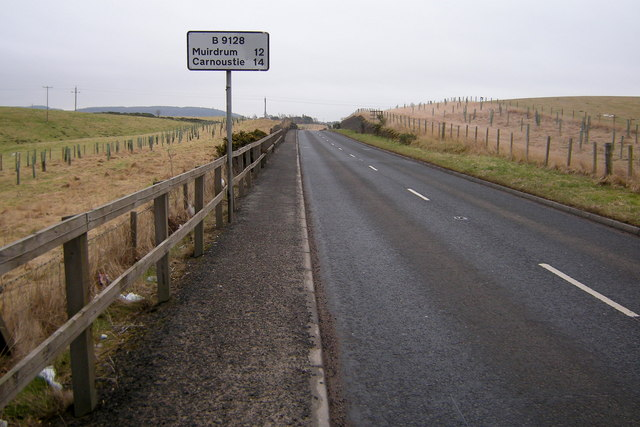 View of the B9128 leaving Forfar