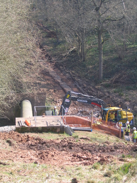Work Being Carried Out, Elan Valley Aqueduct, Twiland Wood